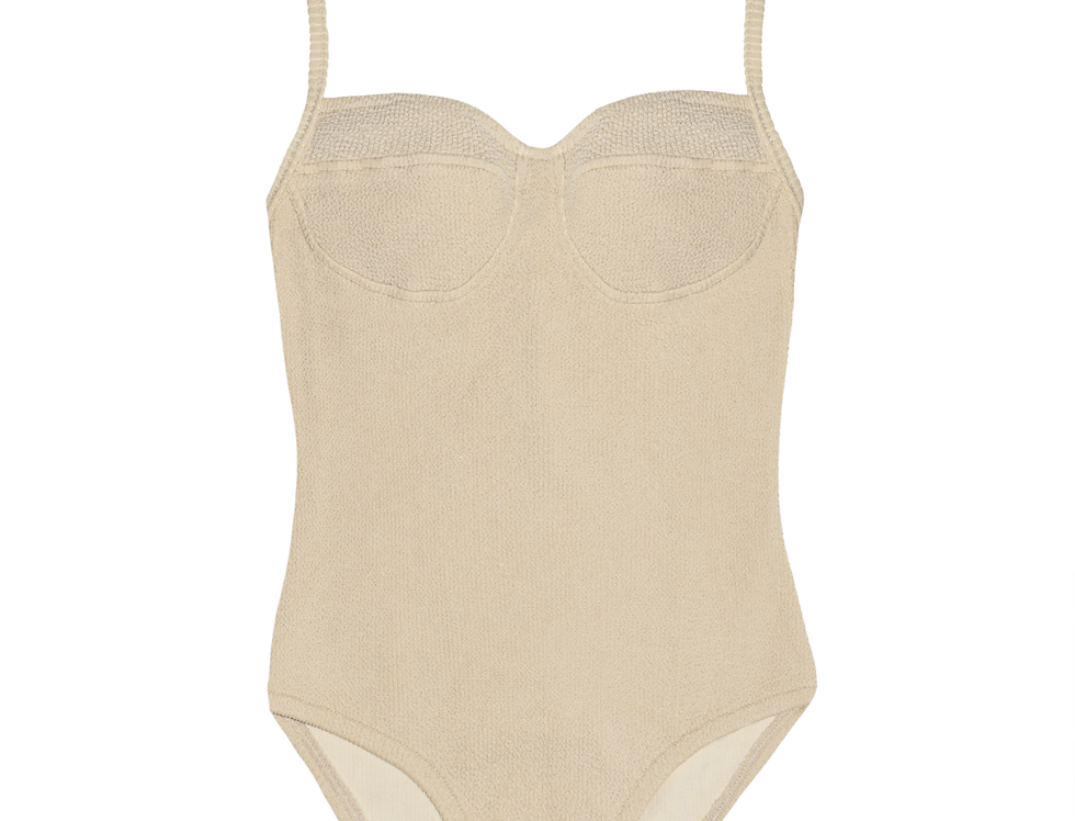 Colette textured swimsuit in sand