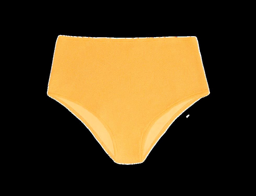 JANE textured high waist bottom in citrus