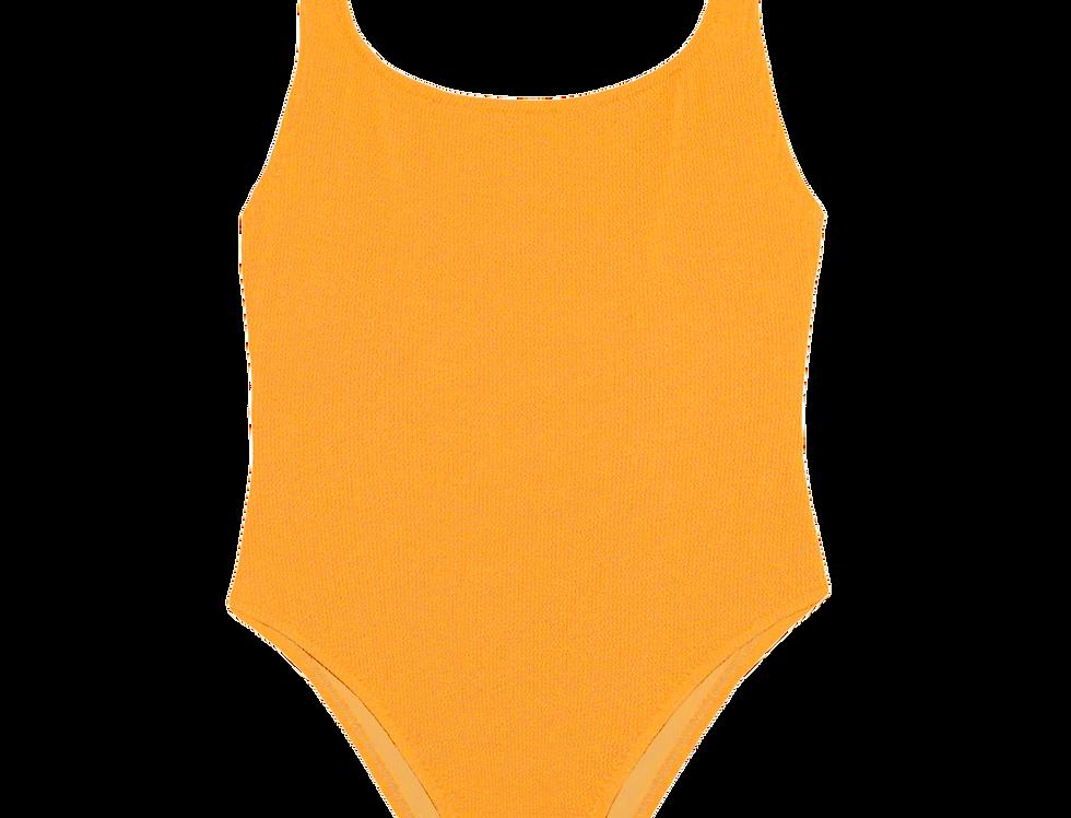 EUGÉNIE textured swimsuit in citrus