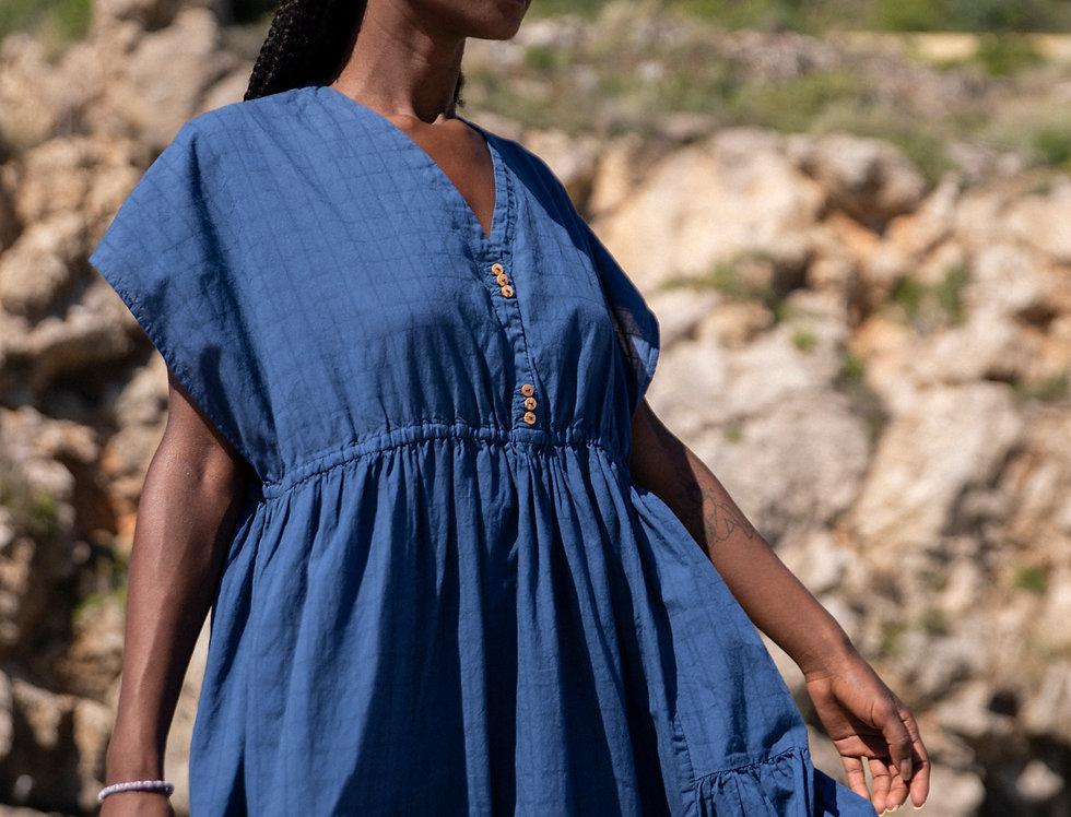 Leguin a shirt DRESS in blue