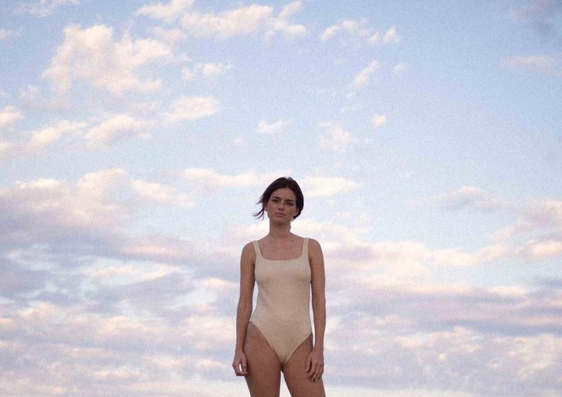 Eugénie textured swimsuit