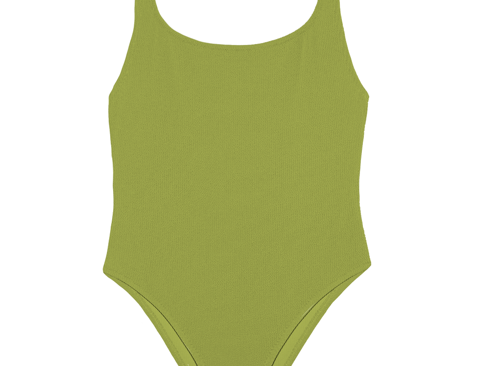 EUGÉNIE textured swimsuit in olive