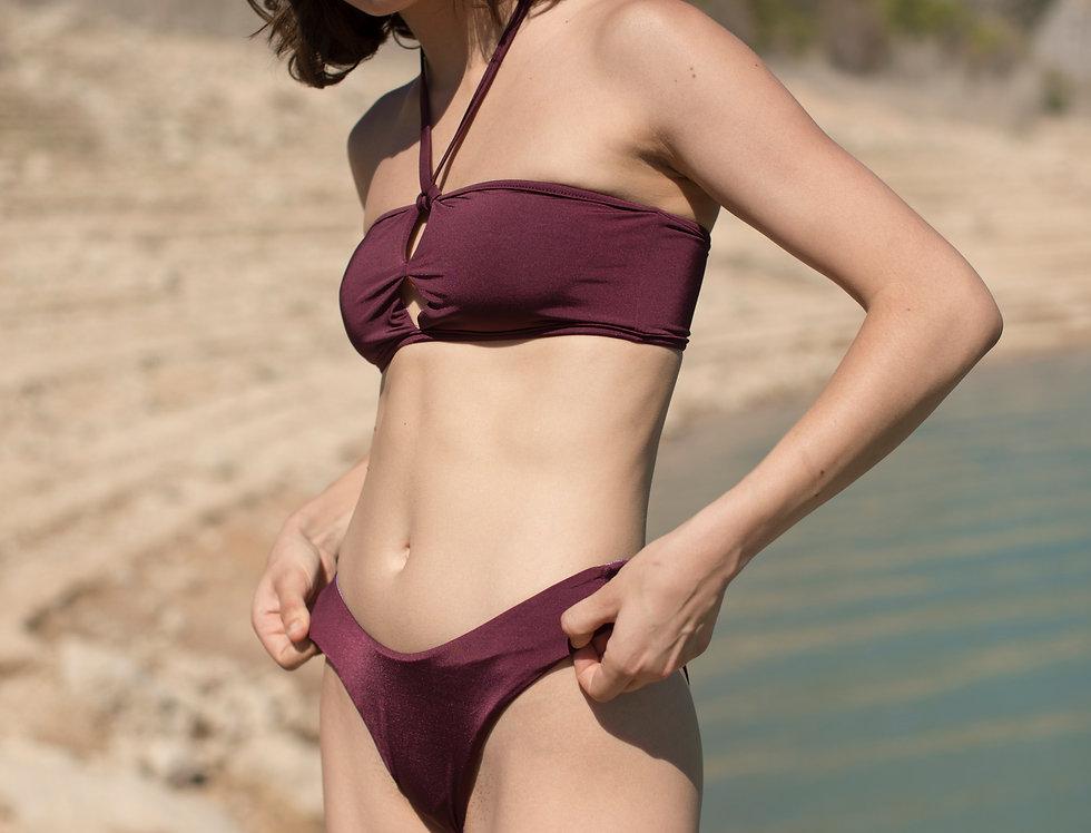 Greta mini gingham reversible bottom