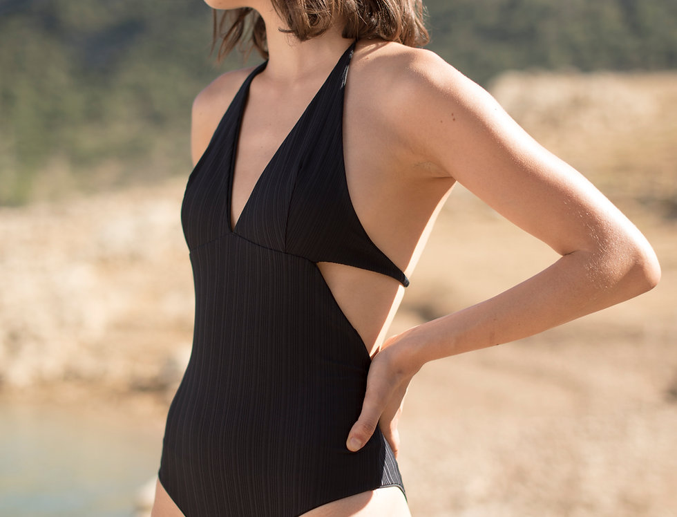 Anne ribbed reversible swimsuit