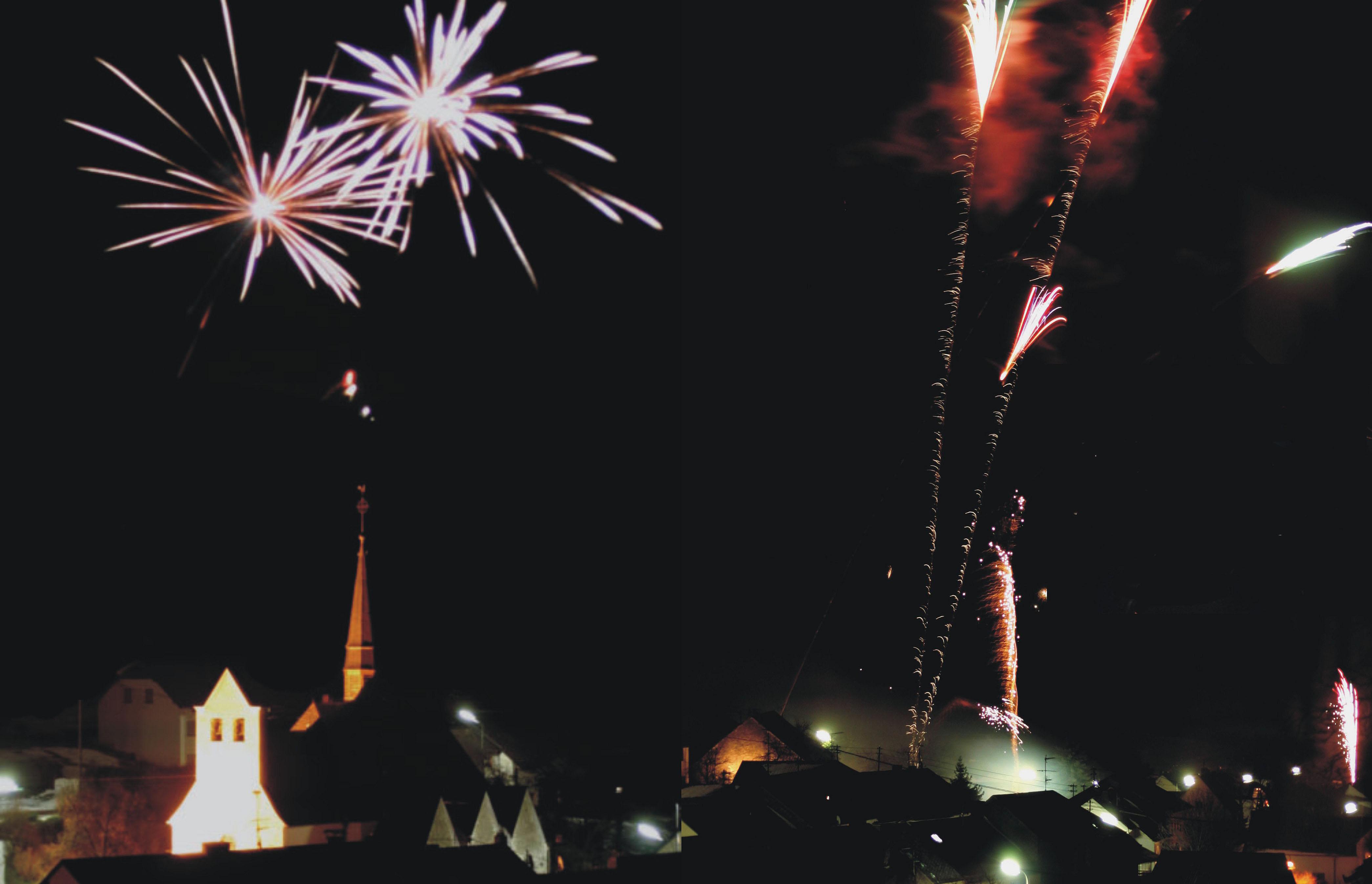 Feuerwerk Lampaden Neujahr 2005 2006