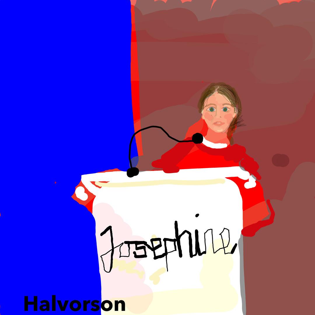 Painter Josephine Halvorson