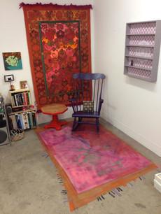 Painted Rug on Studio Floor