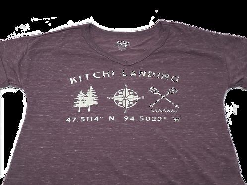 Women's Tree Compass Paddle V Neck
