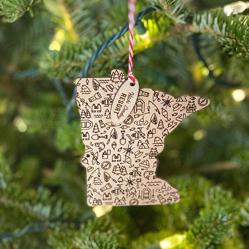Kitchi Christmas Ornament