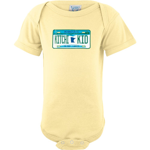 Kitchi Kid Infant License Plate Onsie