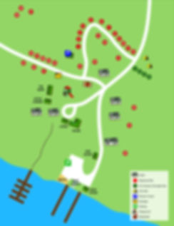 Map of Kitchi Landing Resort