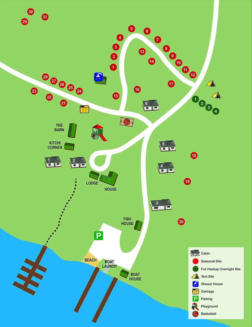 Map of Kitchi Landing Resort