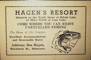 Hagens Resort business card