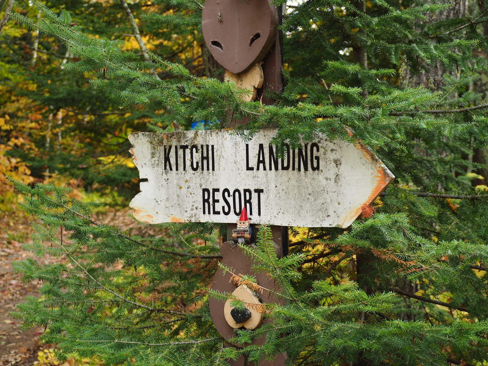 Kitchi Landing Resort Sign