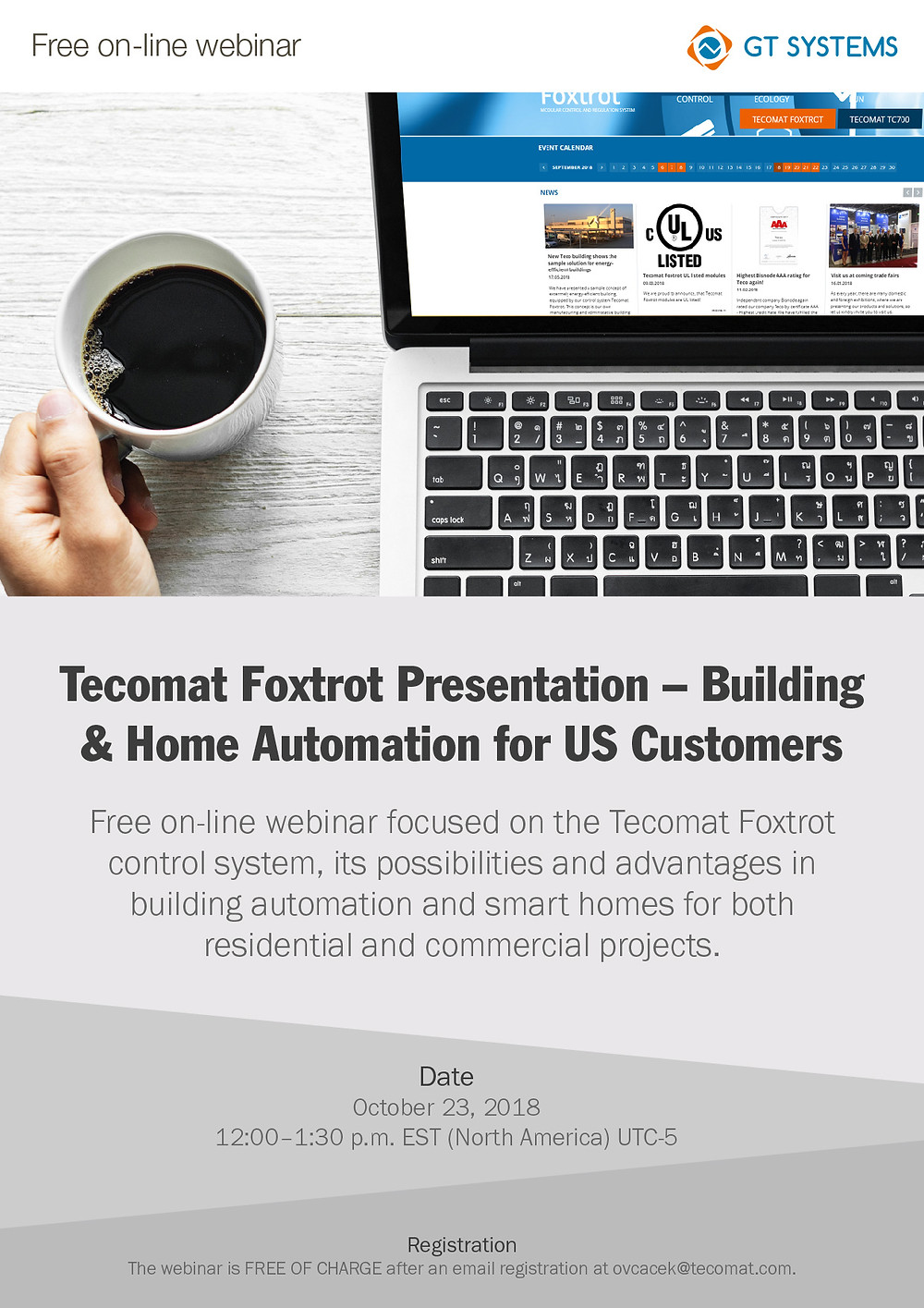 Online webinar: Tecomat Foxtrot Presentation – Building & Home Automation for US Customers
