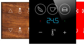 Customizable glass wall switches in original design