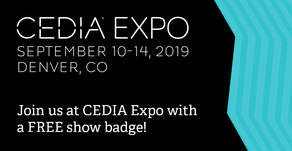 Visit us at CEDIA Expo 2019, the International home tech and training trade show