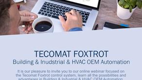 ONLINE WEBINAR: Tecomat Foxtrot Building & Industrial & HVAC OEM Automation