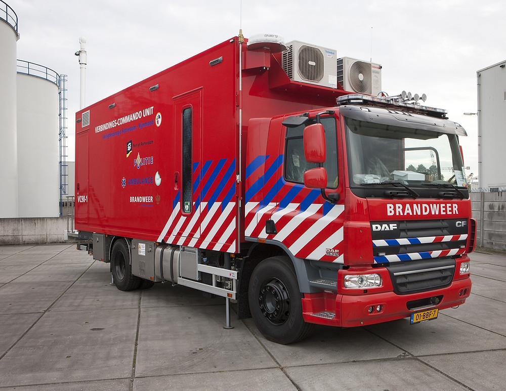 Fire brigade commander wehicle