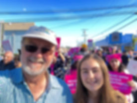 With my daughter Camille at the Santa Cruz Women's March