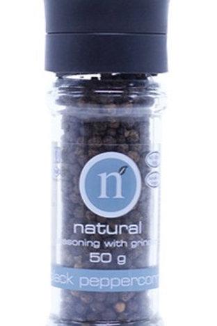 Natural Black Peppercorn Grinder