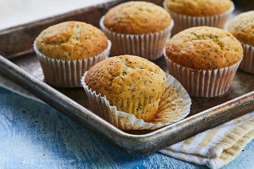 Lemon & Poppy seed Muffins (4)