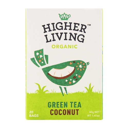 Higher Living™ Organic Coconut Teabags (15 Teabags)