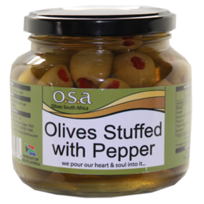 Olives Stuffed with Peppadews