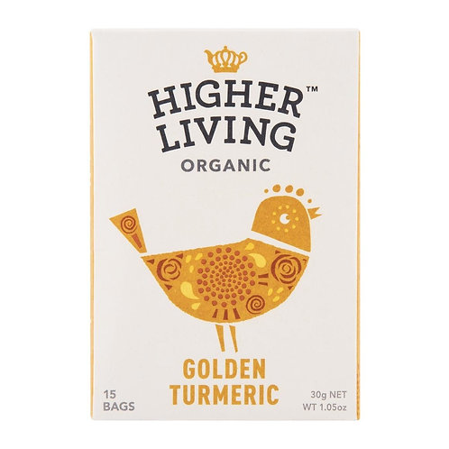 Higher Living™ Organic Golden Turmeric Teabags (15 Teabags)