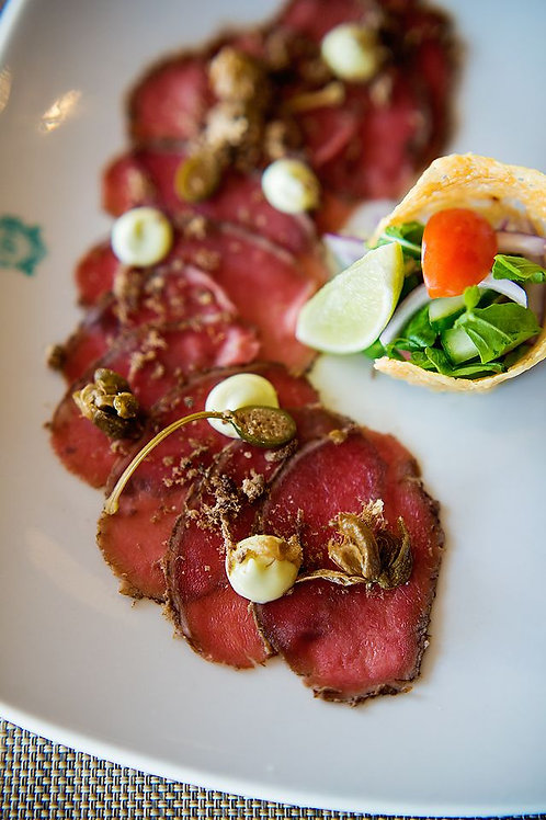 Biltong Carpaccio Sliced