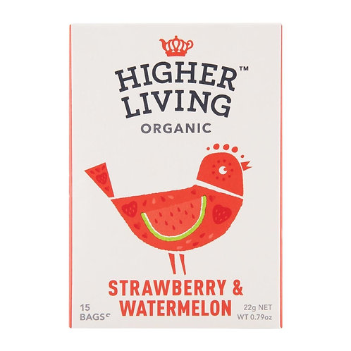 Higher Living™ Organic Strawberry & Watermelon Teabags (15 Teabags)