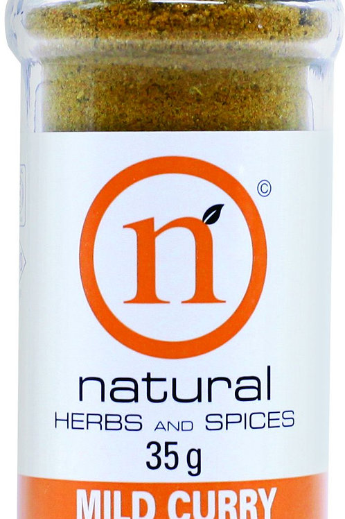 Natural Herbs And Spices Mild Curry Shaker
