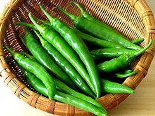 Hot Green Finger Chillies (100g)