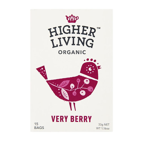 Higher Living™ Organic Very Berry Teabags (15 Teabags)