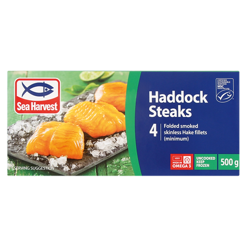 Sea Harvest Frozen Smoked Haddock Steaks