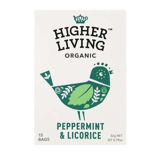 Higher Living™ Organic Peppermint & Licorice Teabags (15 Teabags)
