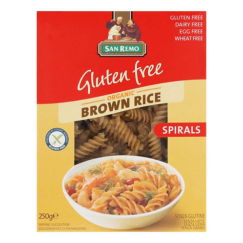 Organic Gluten Free Brown Rice Fusilli