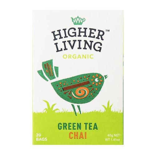 Higher Living™ Organic Chai Green Tea Teabags (15 Teabags)