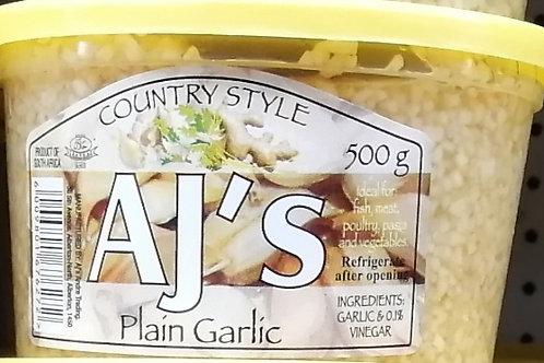 Various AJ's Crushed Garlic