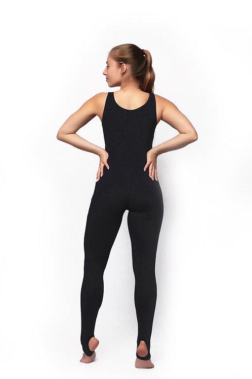 Комбинезон для йоги на маленький рост чернильный