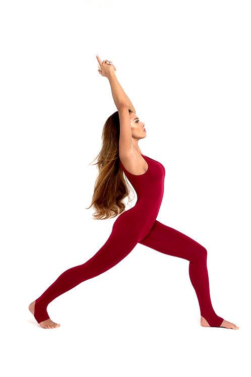 Комбинезон для йоги классический БОРДО