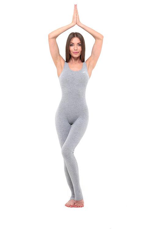 Комбинезон для йоги классический серый