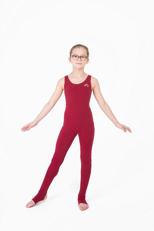 Комбинезон для йоги детский бордо
