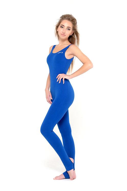 Комбинезон для йоги классический синий
