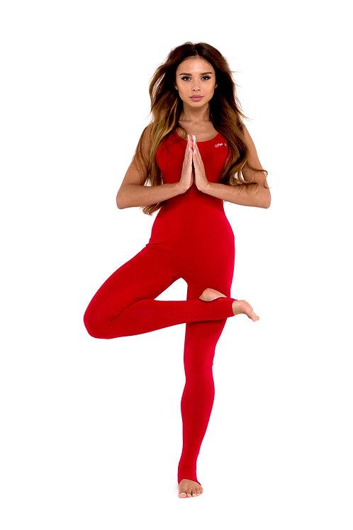 Комбинезон для йоги классический красный