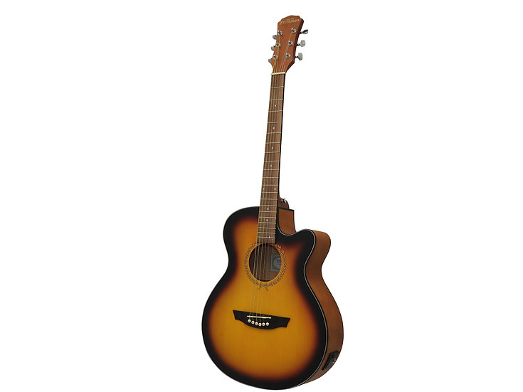 RENOCSB Folk Body Cutaway Electro-Acoustic in Sunburst