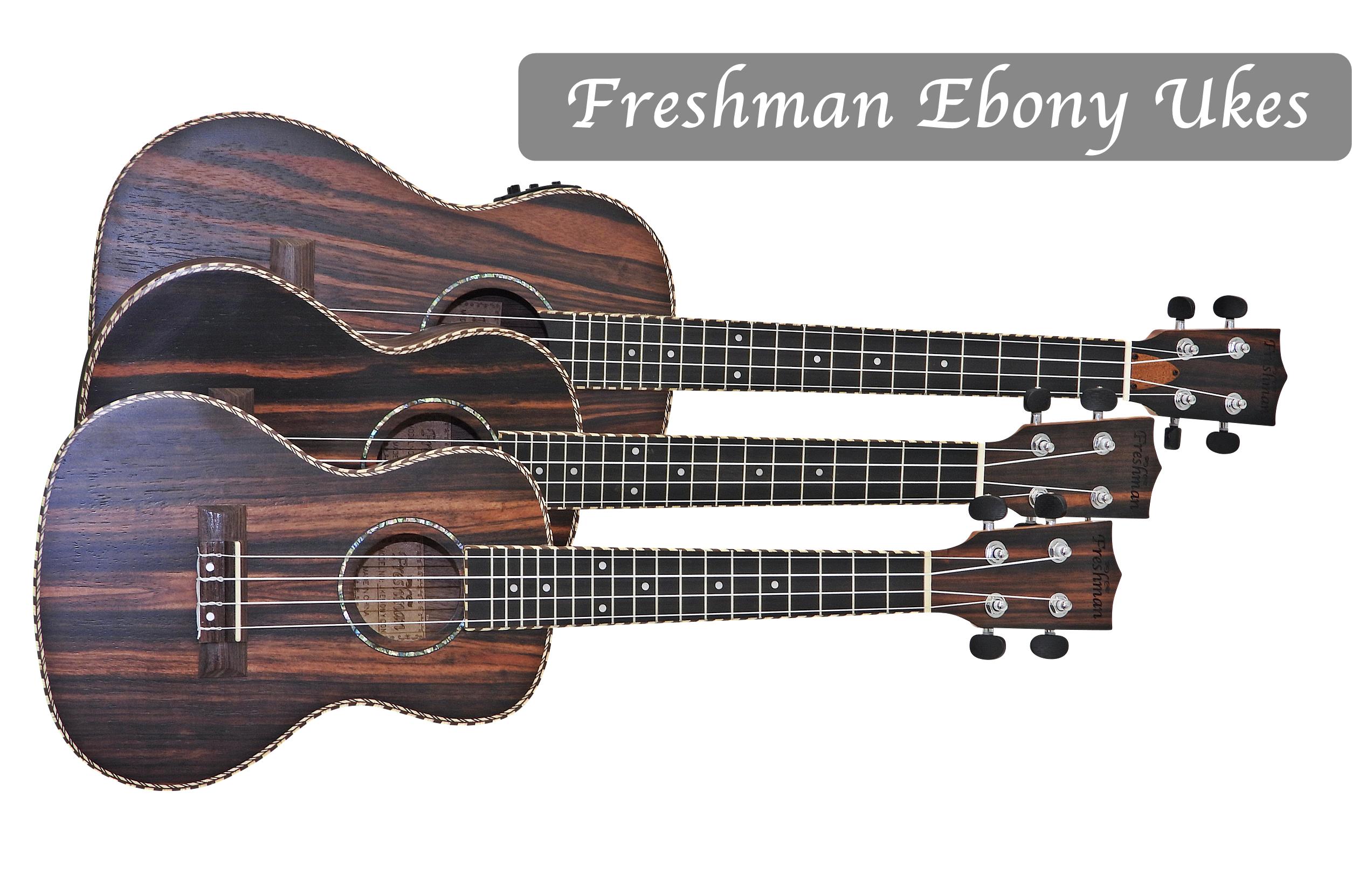 Freshman Ebony Series Ukuleles