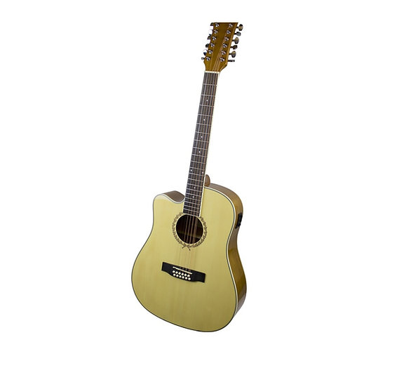 RENDCE12LH Dreadnought Left Hand 12 String Electro-Acoustic