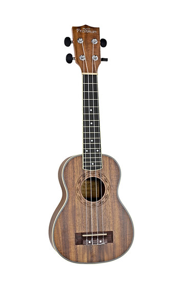 UKKOAS Soprano All Koa Ukulele + padded bag