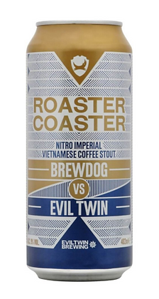 """ברודוג רואסטר קואסטר 402 מ""""ל – Brewdog VS Evil twin Roaster Coaster"""